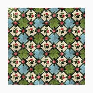 Glazed Ceramic Tile from La Dyle, 1930s