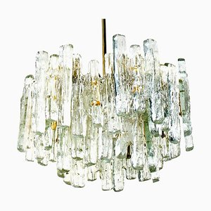 Extra Large Modern Ice Glass Chandelier from Kalmar