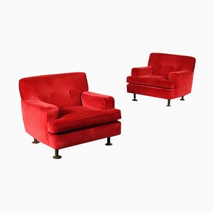 Lounge Chairs by Marco Zanuso for Arflex, Set of 2