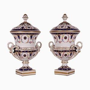 Porcelain Vases from Manifattura Dresden, Set of 2