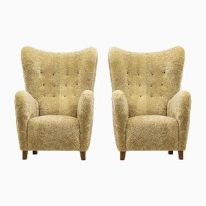 1672 Wingback Chairs from Fritz Hansen, Set of 2