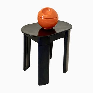 Space Age Black Stool by Olaf Von Bohr for Gedy, 1970s