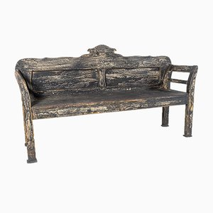 European 3-Seater Farmhouse Bench in Old Paint
