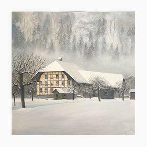 Claude Sauthier, Bâtisse enneigée à Signau, Emmental, 1980