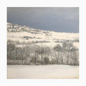 Claude Sauthier, Snowy Landscape, Pressilly, Haute-Savoie, 1980