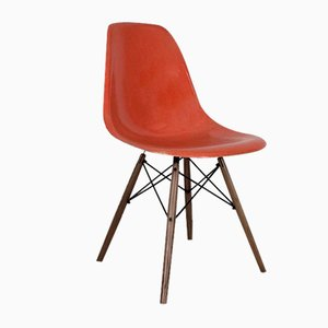 DSW Side Chair in Coral by Eames for Herman Miller