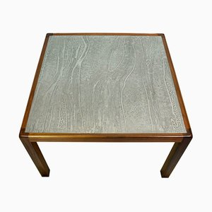 Brutalist Walnut Coffee Table, 1970s