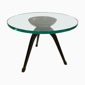 Gueridon Table in the Style of Fontana Arte, 1950s