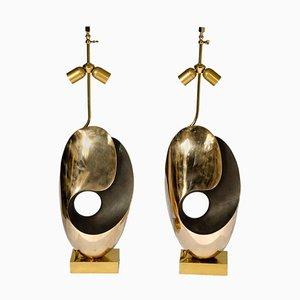 Sculptural Bronze Table Lamp