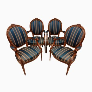 Louis XVI Style Chairs, Set of 4
