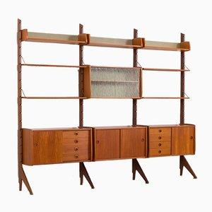 Teak Ergo Modular Wall Unit with 7 Shelves & 4 Cabinets by John Texmon for Blindheim Møbelfabrikk, 1960s