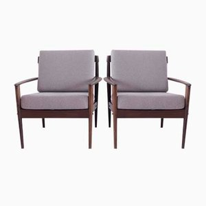 Armchairs by Grete Jalk for Poul Jeppesens, 1960s, Set of 2