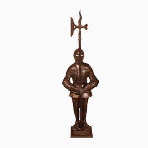 Iron Fireplace Companion Set Representing a Knight