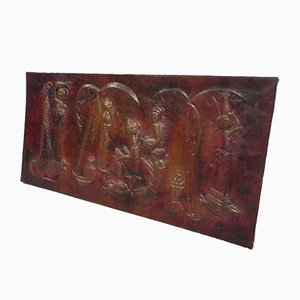 Red Copper Wall Relief by Munanga