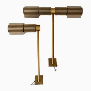 Haloprofil Wall Lamps by V. Frauenknecht for Swisslamps International, Switzerland, 1970s, Set of 2