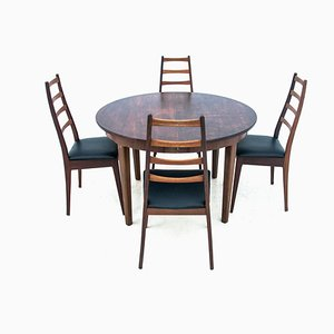 Table with Chairs, Denmark, 1960s, Set of 5