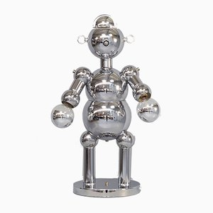 Sculptural Chrome Robot Table Lamp from Torino, 1970s