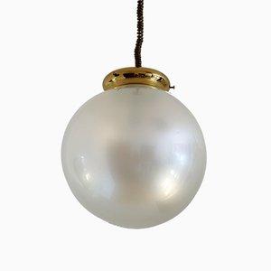 Vintage Italian Pendant Lamp in Murano Glass, 1970s