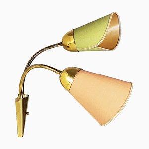 Mid-Century Adjustable Brass Sconce, 1960s