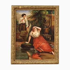Small Romantic Painting - 19th Century
