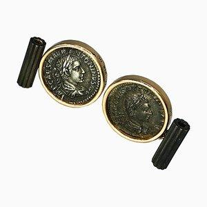Elagabalus Denarius Roman Coin Cufflinks in 18K Gold from Berca