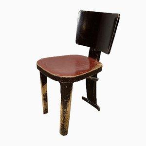 Antique Wooden Tripod Chair, 1920s