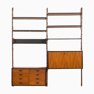 Ergo Modular Wall Unit in Teak with 6 Shelves and 2 Cabinets by John Texmon for Blindheim Møbelfabrikk, 1960s