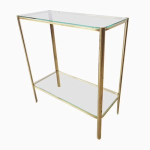 Brass Console Table in the Style of Jacques Quinet, 1970s