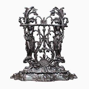 Vintage Art Nouveau Cast Iron Rack