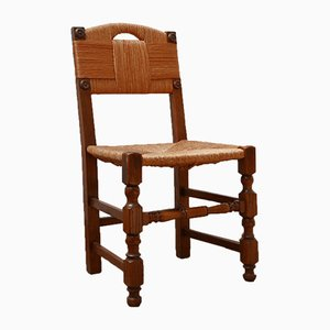 Mid-Century French Rush Dining Chairs, Set of 8