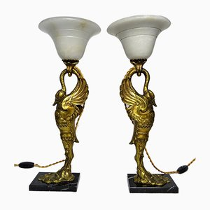 Bronze Table Lamps, France, 1900s, Set of 2