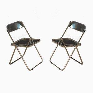 Plia Chairs by Giancarlo Piretti, 1960s, Set of 2
