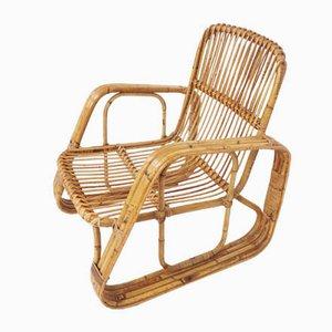 Italian Bamboo Armchair by Lio Carminati, 1960s