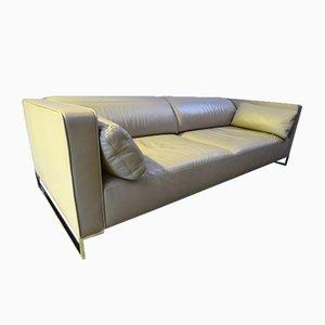 Sofa in Urbani Leather by Didier Gomez for Ligne Roset