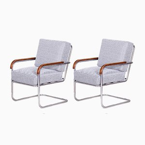 Grey Armchairs from Mücke Melder, 1930s, Set of 2