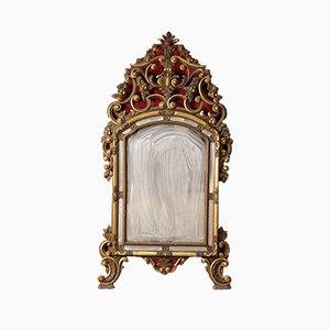 Specchio vintage ornato e dorato, Italia