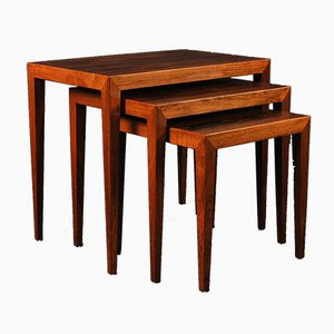 Rosewood Nesting Tables by Severin Hansen, Set of 3
