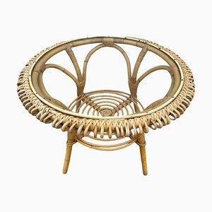 Rattan Round Table 1960s