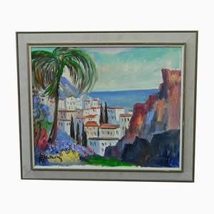 Swedish Modern Painting by Jack Eichborn, Oil on Canvas, 1960s