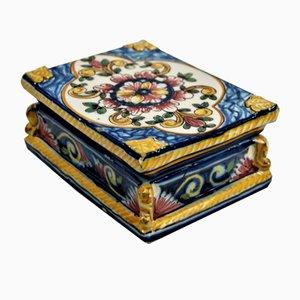 Vintage Portuguese Ceramic Jewelry Box