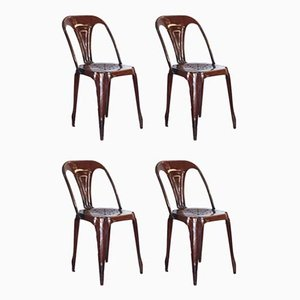 Bistro Chairs from Joseph Mathieu, 1937, Set of 4