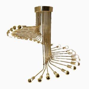 Brass Chandelier by Gaetano Sciolari for Stilnovo, 1950s