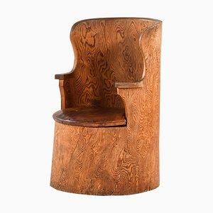 Swedish Stump Chair by Emil Cederlund for Mora