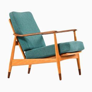 Danish Model 161 Lounge Chair by Arne Vodder for France & Daverkosen