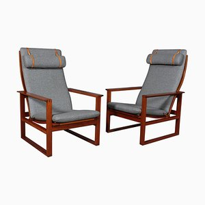 Danish Mahogany 2254 Lounge Chair by Borge Mogensen for Fredericia, 1956