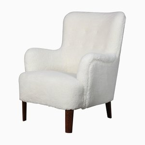 Sheepskin Lounge Chair by Peter Hvidt for Fritz Hansen