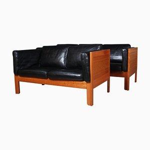 Sofa Set by Borge Mogensen for Fredericia, Set of 2