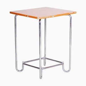 20th Century Bauhaus Chrome & Plywood Table from Hynek Gottwald, 1930s