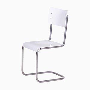 Vintage Bauhaus White Chair from Vichr a Spol, 1930s