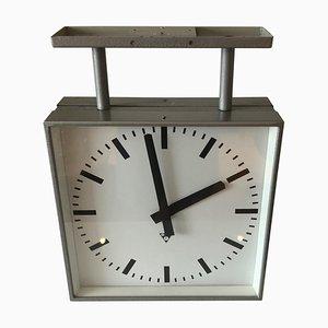 Czechoslovakian Pragotron Bilateral Clock, 1970s